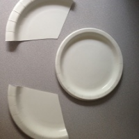 Paper plate crafts- Elephant