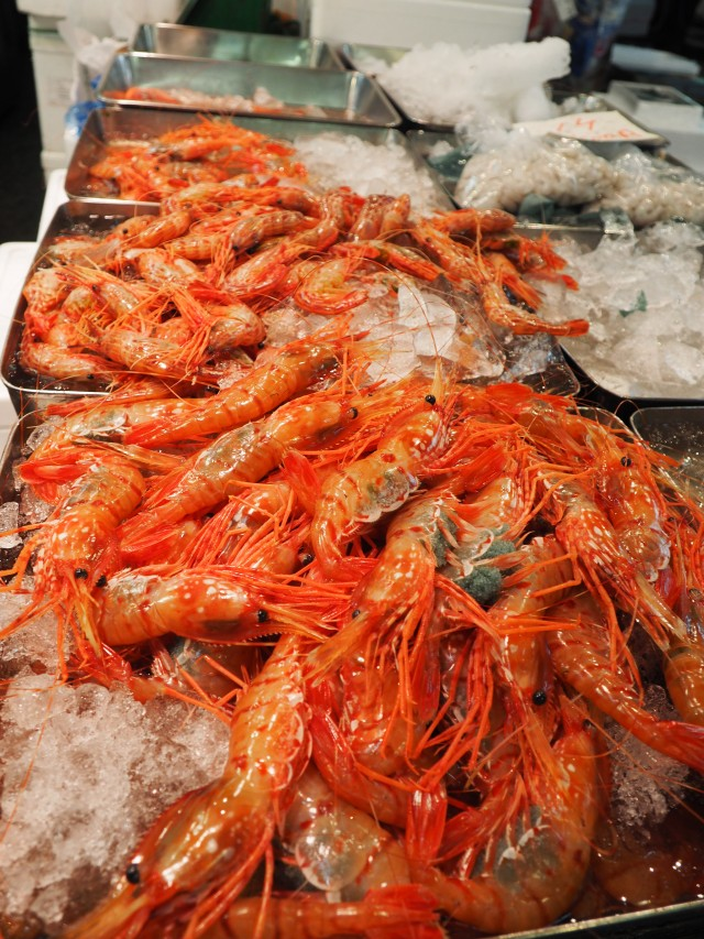 Prawns at Tsukiji Fish Market