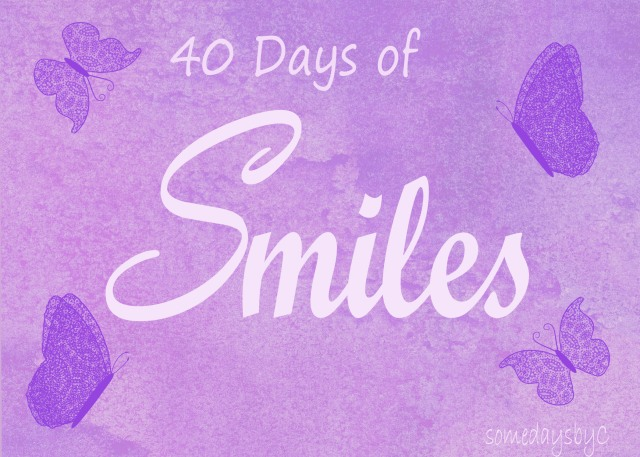 40 days smile title copy